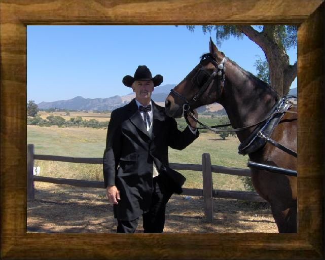 Quartz Mountain Carriage Co. Tom has over 30 years driving experience. Make any event one to remember with a horse drawn carriage.
